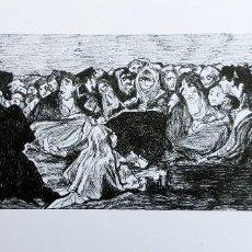 Arte: CURIOSO GRABADO - EL CONGRESO DE LAS BRUJAS - FITUR 2000 - FIRMADO Y NUMERADO - PINTURAS NEGRAS GOYA. Lote 72918019