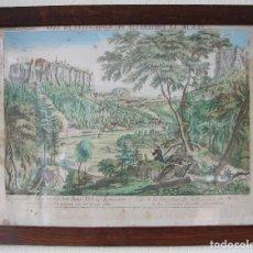 Arte: VISTA DE LA FORTERESSE DU KONIGSTEIN EN SAXE: GRABADO SIGLO XVIII COLLECTION DES PROSPECTS AUSBURG. Lote 73036863