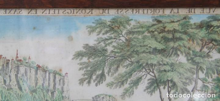 Arte: VISTA DE LA FORTERESSE DU KONIGSTEIN EN SAXE: GRABADO SIGLO XVIII COLLECTION DES PROSPECTS AUSBURG - Foto 3 - 73036863