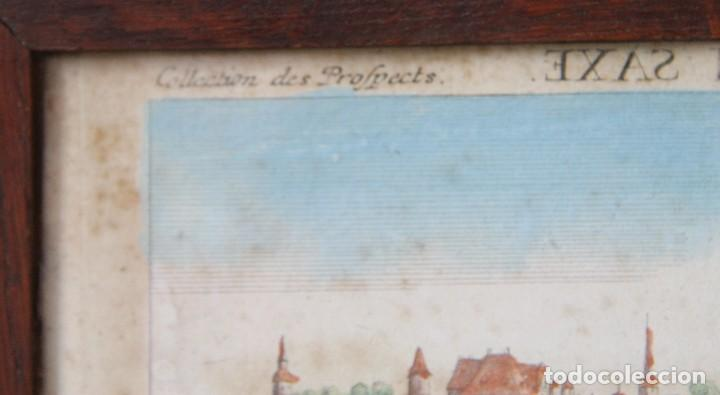 Arte: VISTA DE LA FORTERESSE DU KONIGSTEIN EN SAXE: GRABADO SIGLO XVIII COLLECTION DES PROSPECTS AUSBURG - Foto 4 - 73036863