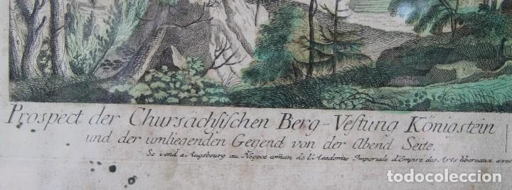 Arte: VISTA DE LA FORTERESSE DU KONIGSTEIN EN SAXE: GRABADO SIGLO XVIII COLLECTION DES PROSPECTS AUSBURG - Foto 6 - 73036863