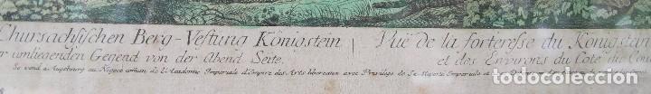 Arte: VISTA DE LA FORTERESSE DU KONIGSTEIN EN SAXE: GRABADO SIGLO XVIII COLLECTION DES PROSPECTS AUSBURG - Foto 8 - 73036863