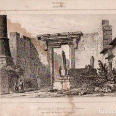 Arte: ARMENIA -MONUMENTO DE AUGUSTO EN ANGORA - GRABADO LEMAITRE / PREAUX SIGLO XIX. Lote 73361007