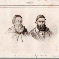 Arte: ARMENIA -MECHITAR Y AUCHOT - GRABADO LESUEUR / VERNIER SIGLO XIX. Lote 73363935
