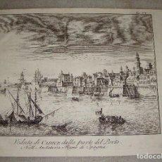 Arte: GRABADO DE CADIZ. 1745. VEDUTA DI CADICE DALLA PARTE DEL PORTO.. Lote 73407679