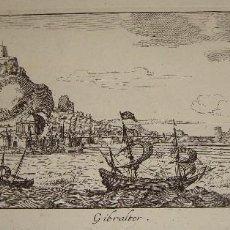 Arte: ANTIGUO GRABADO DE GIBRALTAR. 1654. I. PEETERS EXCUDIT.. Lote 73409243