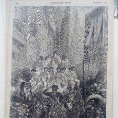 Arte: PÁGINA 164 DEL PERIÓDICO ILLUSTRATED TIMES. (S.XIX) CON GRABADO DE GUSTAVE DORE ¿LITOGRAFÍA?. Lote 73477047