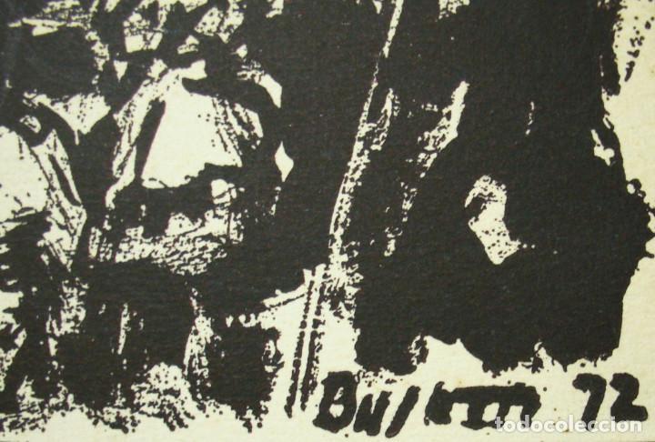 Arte: SIMÓ BUSOM grabado 27 x 18,5 cm. Firmado y fechado 1972 - Foto 3 - 73495611