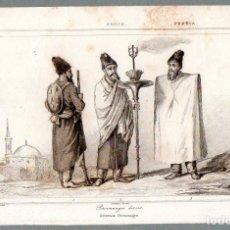Arte: PERSIA : DIVERSOS PERSONAJES - GRABADO VERNIER VOLF LEMAITRE S. XIX. Lote 73526799