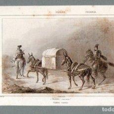 Arte: PERSIA : TAKHTI RAVAN - GRABADO VERNIER CHAILLOT LEMAITRE S. XIX. Lote 73526883