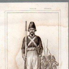 Arte: PERSIA : SOLDADOS PERSAS - GRABADO VERNIER BRUNELLIERE LEMAITRE S. XIX. Lote 73527259