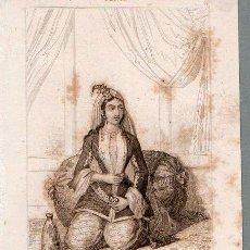 Arte: PERSIA : MUJER PERSA EN EL HAREN - GRABADO VERNIER CHAILLOT LEMAITRE S. XIX. Lote 73527859
