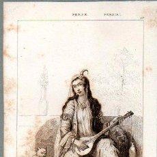 Arte: PERSIA : MUJER PERSA EN EL HAREN - GRABADO VERNIER CHAILLOT LEMAITRE S. XIX. Lote 73527927