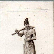 Arte: PERSIA : CEPO PARA EXPONER A LA VERGÜENZA - GRABADO VERNIER GOULU LEMAITRE S. XIX. Lote 73528107