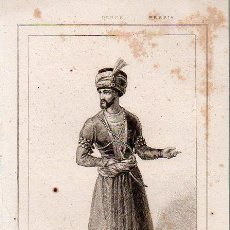Arte: PERSIA : MEHEMET KHAN - GRABADO VERNIER BERLIÉ LEMAITRE S. XIX. Lote 73528515