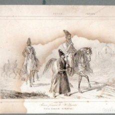 Arte: PERSIA : PERSA FUMANDO EL KALIOUN - GRABADO VERNIER CHAILLOT LEMAITRE S. XIX. Lote 73528659