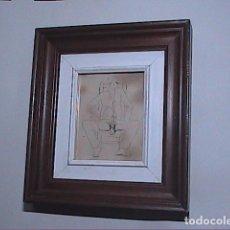 Arte: GRABADO AL AGUAFUERTE.DIBUJO ERÓTICO.PAISES BAJOS. 1915. ENMARCADO.. Lote 73544799
