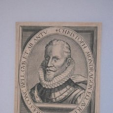 Arte: ANTIQUISIMO GRABADO SIGLO XVI CRISTOBAL DE MONDRAGON, NATURAL MEDINA DEL CAMPO. Lote 73732827