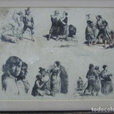 Arte: LEONARDO ALENZA Y NIETO (1807-1845) GRABADO. Lote 73745467
