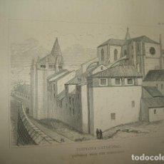 Arte: PAMPLONA LA CATEDRAL GRABADO 1869. Lote 73787327