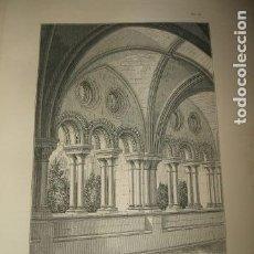 Arte: TARRAGONA CLAUSTRO DE LA CATEDRAL GRABADO 1869. Lote 73791759