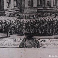 """Arte: GRABADO ORIGINAL EL VATICANO 1778 """"…IL CARDENAL LEONARDO ANTONELLI..."""". Lote 73795459"""