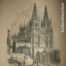Arte: BURGOS CATEDRAL GRABADO 1869. Lote 73800275