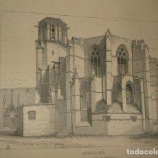 Arte: BARCELONA CATEDRAL GRABADO 1869. Lote 73801079
