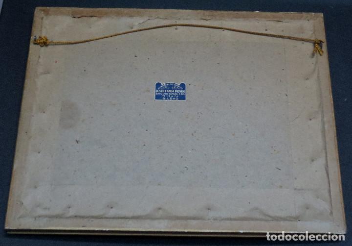Arte: GRABADO COLEGIATA DE SANTA CRUZ DE CASTAÑEDA SANTANDER F. SAN ROMÁN AÑO 1943 ENMARCADO - Foto 3 - 73888035