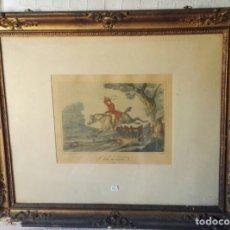Arte: LOTE DE 2 GRABADOS ANTIGUOS ESCENAS DE CAZA. Lote 74578007