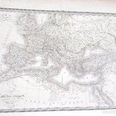 Arte: MAPA DEL IMPERIO ROMANO - MAPA M. LAPIE - CARTE DE L'EMPIRE ROMAIN - 1832. Lote 75125807