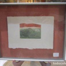 Arte: GRABADO DE MARZO MARÍN, NUMERADO Y ENMARCADO. PAPEL: 18 X 13 CMS.. Lote 75199931