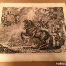 Arte: 1743 - LA BATAILLE GAIGNEE - WILLIAM CAVENDISH NEWCASTLE - GASPARD DE SAUNIER - CABALLOS. Lote 75686907