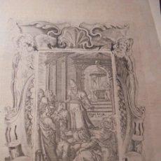 Arte: ANTIGUO GRABADO BARROCO , , GRABADO POR LAS DOS CARAS . ORIGINAL DE EPOCA 33X19,5 CM.. Lote 75690175