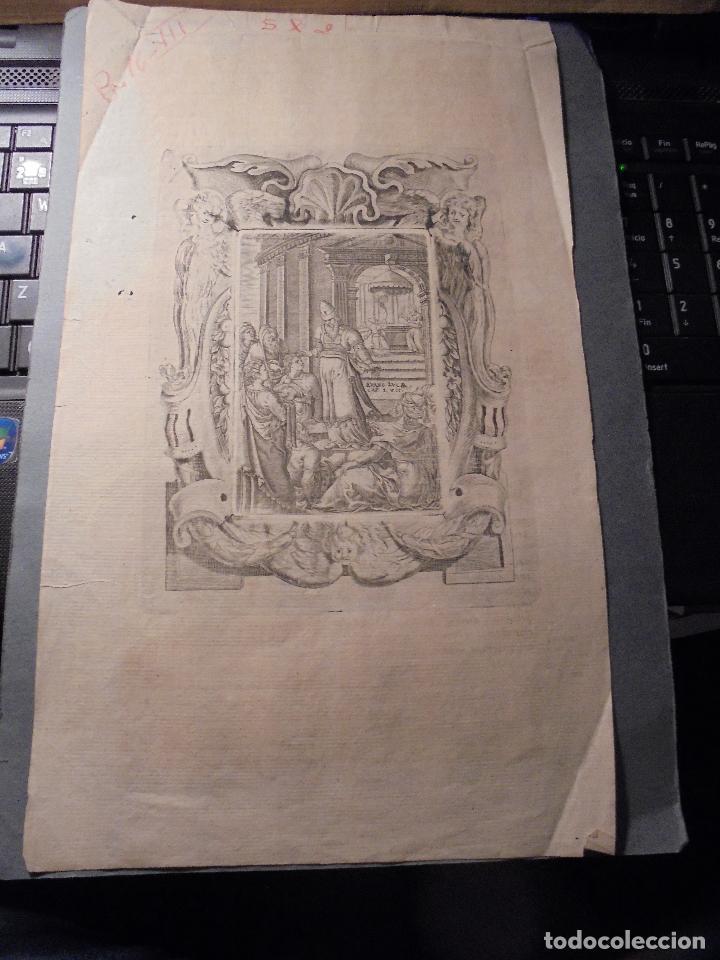 Arte: ANTIGUO GRABADO BARROCO , , GRABADO POR LAS DOS CARAS . ORIGINAL DE EPOCA 33X19,5 CM. - Foto 4 - 75690175