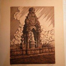Arte: AGUAFUERTE MANUEL CASTRO GIL. PUENTE DE TOLEDO. Lote 75718946
