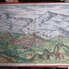 Arte: 1575-LOJA GRANADA. GRABADO ORIGINAL DE BRAUN-HOGENBERG. MUY GRANDE. Lote 75806035
