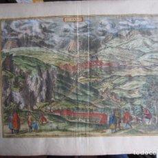 Arte: 1564-ALHAMA GRANADA. GRABADO ORIGINAL DE BRAUN-HOGENBERG. MUY GRANDE. Lote 75806399
