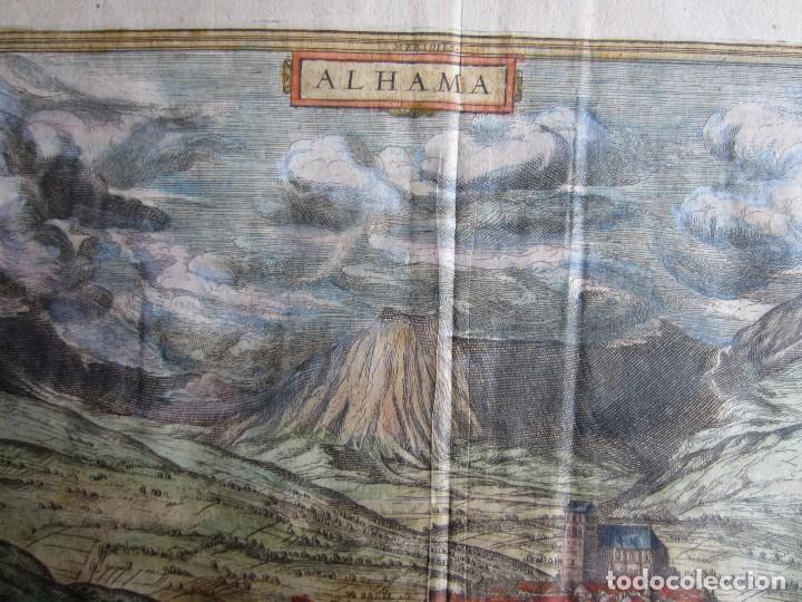 Arte: 1564-ALHAMA GRANADA. GRABADO ORIGINAL DE BRAUN-HOGENBERG. MUY GRANDE - Foto 2 - 75806399