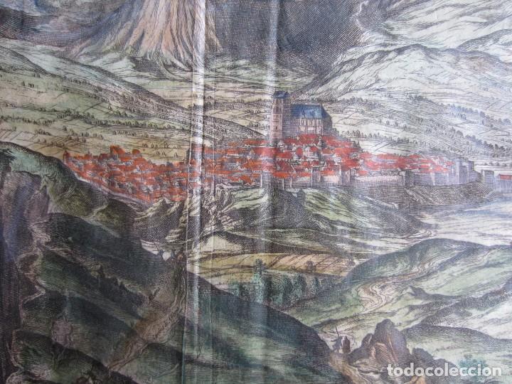 Arte: 1564-ALHAMA GRANADA. GRABADO ORIGINAL DE BRAUN-HOGENBERG. MUY GRANDE - Foto 4 - 75806399