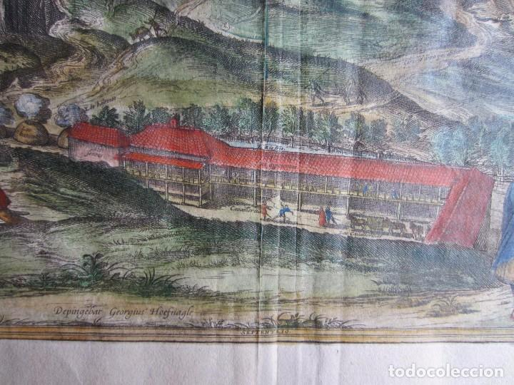Arte: 1564-ALHAMA GRANADA. GRABADO ORIGINAL DE BRAUN-HOGENBERG. MUY GRANDE - Foto 5 - 75806399