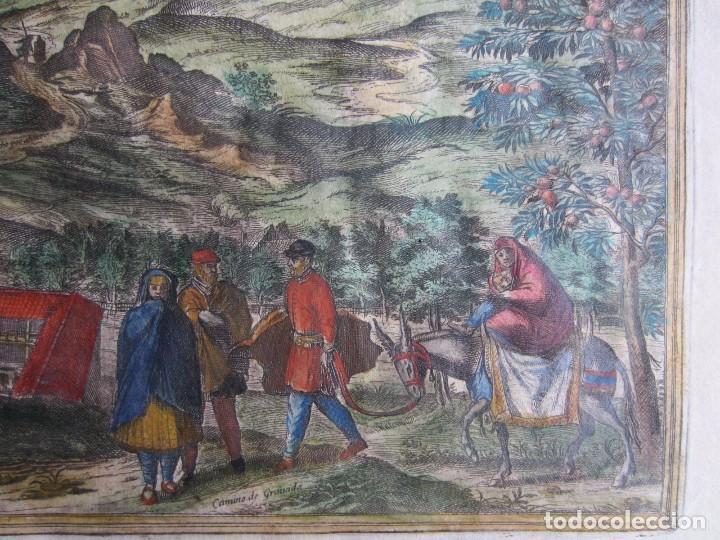 Arte: 1564-ALHAMA GRANADA. GRABADO ORIGINAL DE BRAUN-HOGENBERG. MUY GRANDE - Foto 6 - 75806399