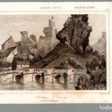 Arte: FRANCIA : CASTILLO DE ESPALY - GRABADO LEMAITRE GAUCHERET SIGLO XIX. Lote 75900691