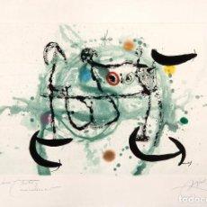 Arte: GRABADO DE MIRÓ: L'ECARTELÉE. FIRMADO A LAPIZ. HC. DEDICADO A SU AMIGO HECTOR. 1970. Lote 75938939