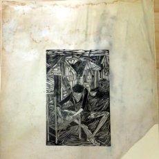 Arte: GRABADO DE FRANCISCO CUADRADO, DEDICADO AL PINTOR JUSTO GIRON, LEER MEDIDAS Y ESTADO. Lote 75975207