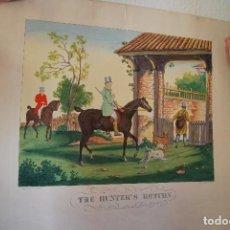 Arte: GRABADO CACERÍA - THE HUNTER´S RETURN Nº 4 - FRANCIS BOOMBOND - CHARLES VERNET - M-G PARNELL & C.. Lote 76066711