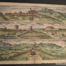 Arte: GEORGE HOEFNAGEL. GRABADO SIGLO XVI, PALACIOS, ALCANERILLA, CABEÇAS. 1598 (SEVILLA). Lote 76191731