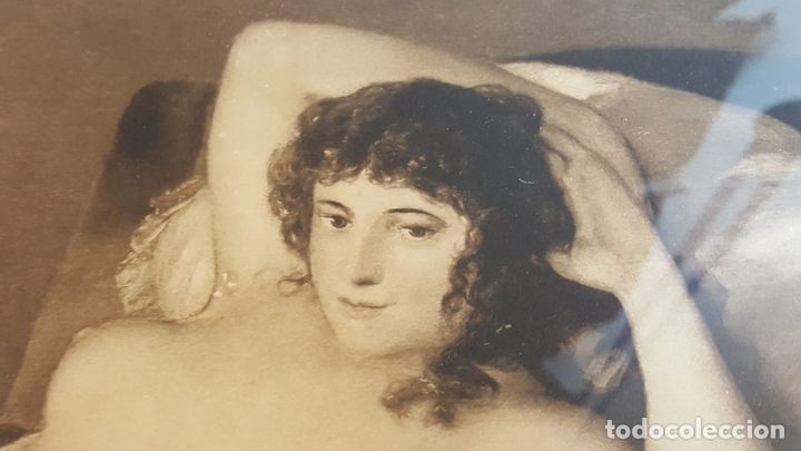 J3 040 La Maja Desnuda Grabado Goya Lit Franz Hanfstaengl Siglo Xix