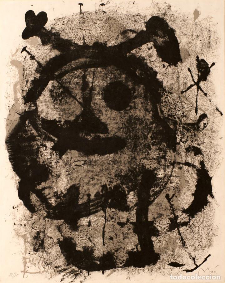 JOAN MIRÓ. GRABADO ORIGINAL FIRMADO Y NUMERADO.QUELQUES FLEURS POUR DES AMIS 1964 (Arte - Grabados - Contemporáneos siglo XX)