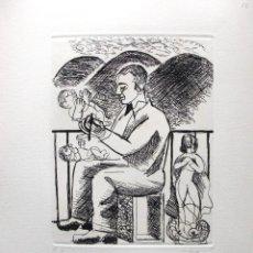 Arte: JORDI CUROS GRABADO 35 X 29 CM. E/A. FIRMADO.. Lote 76990137